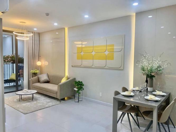 Phòng khách căn hộ Ricca quận 9 Căn hộ tầng 10 dự án Ricca nội thất cơ bản