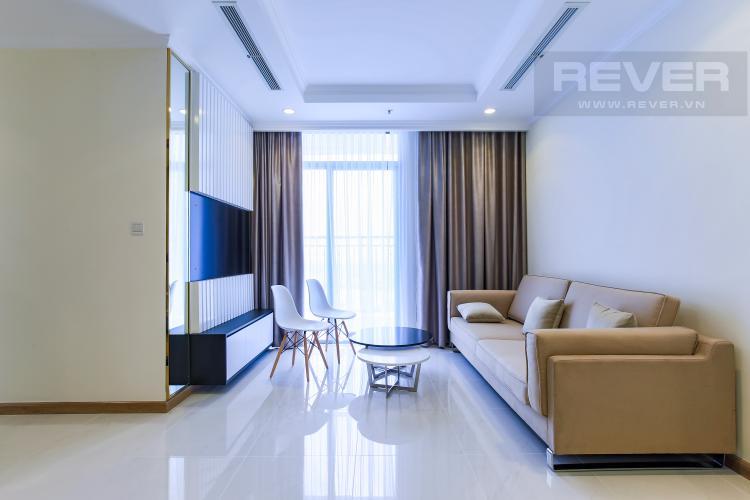Phòng Khách Căn hộ Vinhomes Central Park 2 phòng ngủ tầng cao Landmark 3 đầy đủ tiện nghi