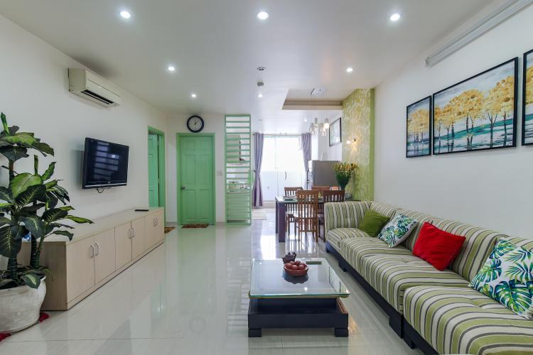 Cho thuê chung cư H2 Hoàng Diệu 2PN, diện tích 87m2, đầy đủ nội thất, view cảnh thành phố