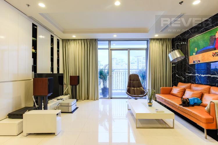 Phòng khách Căn góc Vinhomes Central Park tầng cao Central 3 view sông