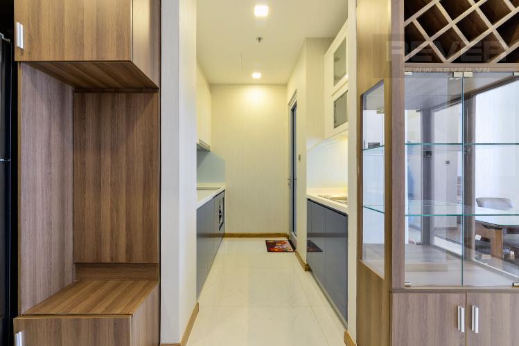 Nhà Bếp Cho thuê căn hộ Vinhomes Central Park 2PN 2WC, đầy đủ nội thất, view sông