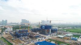 Toàn cảnh công trường xây dựng dự án Empire City Thủ Thiêm