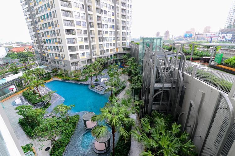 view căn hộ MASTERI AN PHÚ Cho thuê căn hộ Masteri An Phú 1PN, tầng 5, đầy đủ nội thất, view hồ bơi