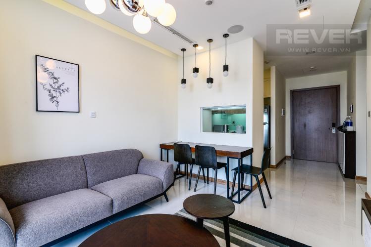 Phòng Khách Căn hộ Vinhomes Central Park 1 phòng ngủ tầng cao P6 hướng Nam