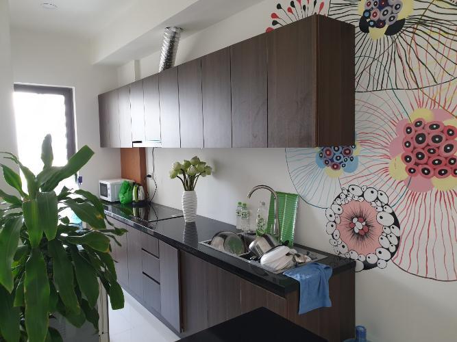 bếp căn hộ The Sun Căn hộ The Sun Avenue tầng trung, nội thất cơ bản, 3 phòng ngủ.