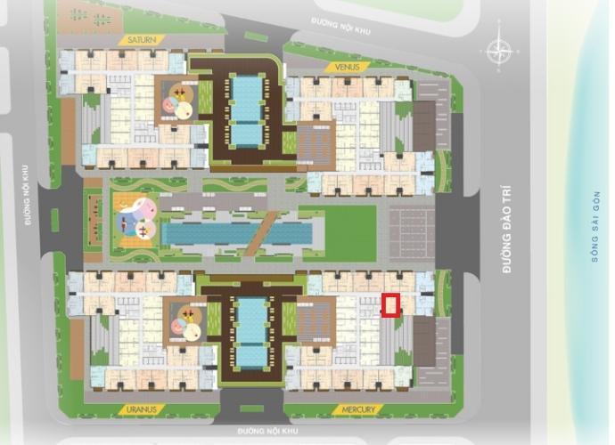 layout tổng quan M1.25.12 Bán căn hộ Q7 Saigon Riverside, 2 phòng ngủ, diện tích 66,66m2, chưa bàn giao