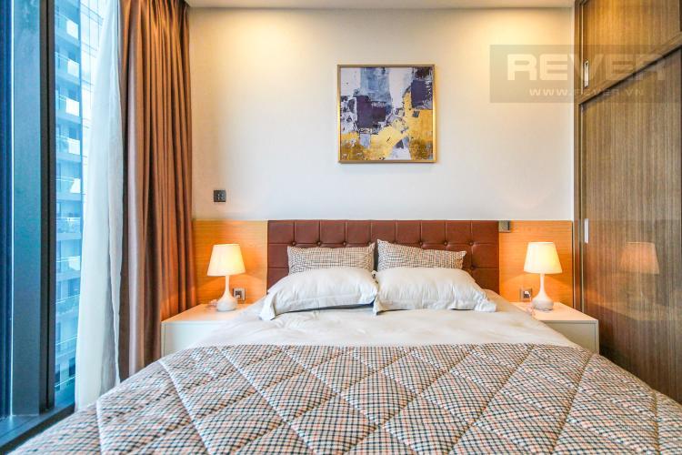 Phòng Ngủ 1 Cho thuê căn hộ Vinhomes Golden River 2PN, đầy đủ nội thất, view sông Sài Gòn và Landmark 81