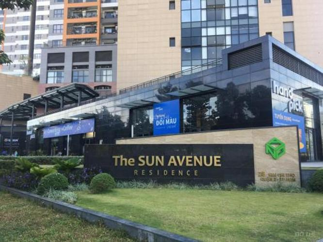 tiện ích căn hộ The Sun Căn hộ Officetel The Sun Avenue view nội khu hồ bơi yên tĩnh mát mẻ.