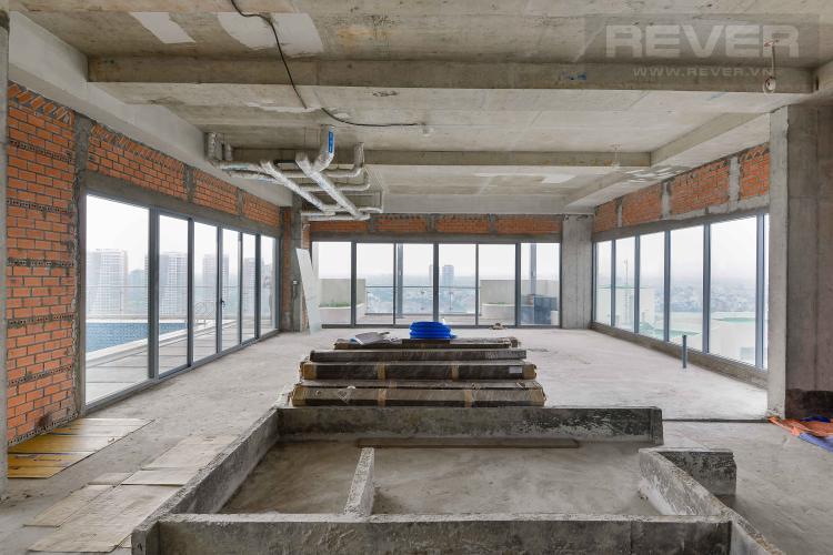 Phòng Khách Bán Sky Villa Diamond Island - Đảo Kim Cương 4PN, có hồ bơi, sân vườn riêng, view 3 mặt sông
