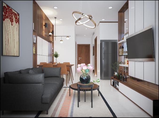 Phòng khách căn hộ Bcons Garden Căn hộ Bcons Garden nội thất cơ bản, view tầng cao thoáng mát.