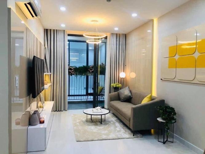 Phòng khách căn hộ Ricca Căn hộ Ricca Quận 9 tầng cao nội thất cơ bản, thiết kế hiện đại.