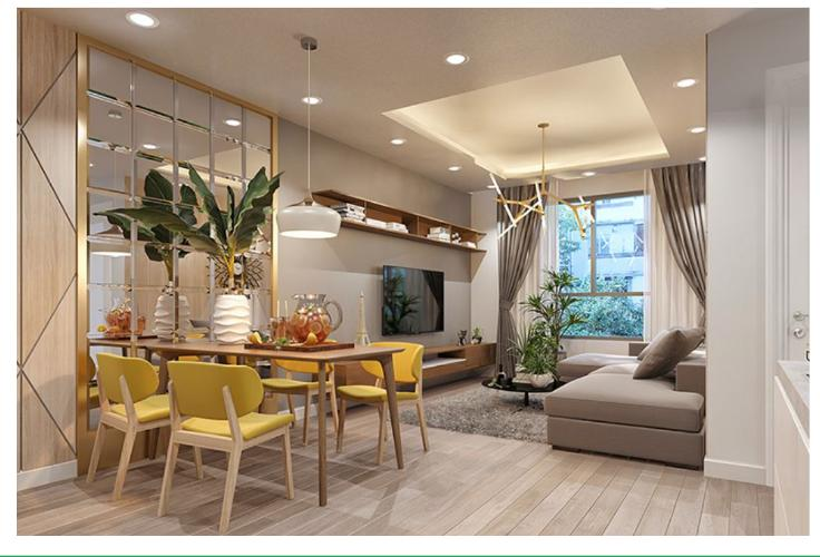 Phối cảnh căn hộ Topaz Elite Căn hộ Topaz Elite tầng 12, view thành phố sầm uất, 3 phòng ngủ.