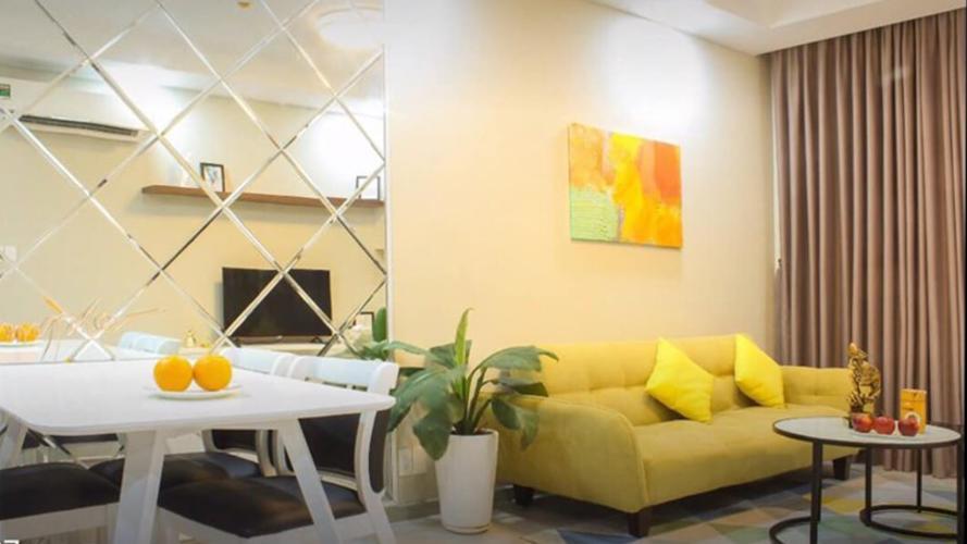 Phòng Khách Cho thuê căn hộ The Gold View 2PN, tầng trung, đầy đủ nội thất, view sông và thành phố