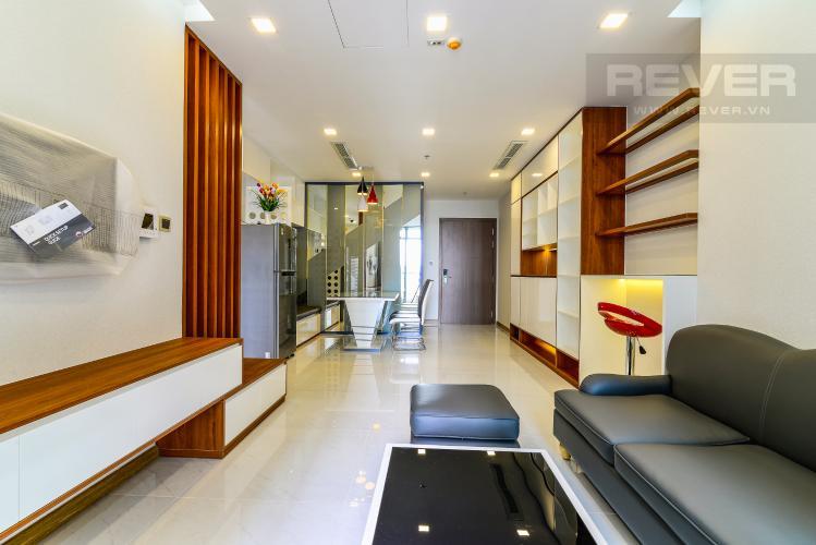 Phòng Khách Căn hộ Vinhomes Central Park 2 phòng ngủ tầng trung P7 hướng Đông Nam