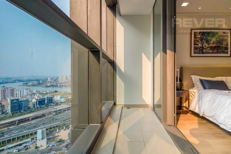 View Cho thuê căn hộ Vinhomes Central Park 1PN, diện tích 54m2, đầy đủ nội thất, view thành phố và sông Sài Gòn