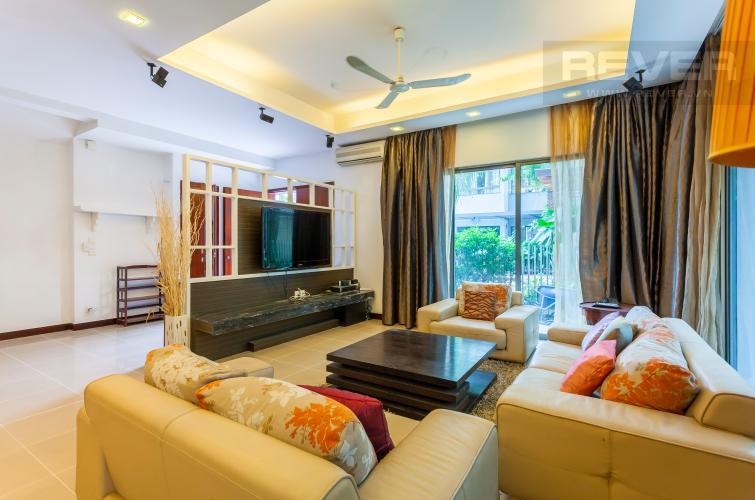 Phòng khách 1 Villa Compound Riviera Quận 2 thiết kế sang trọng, đầy đủ tiện nghi