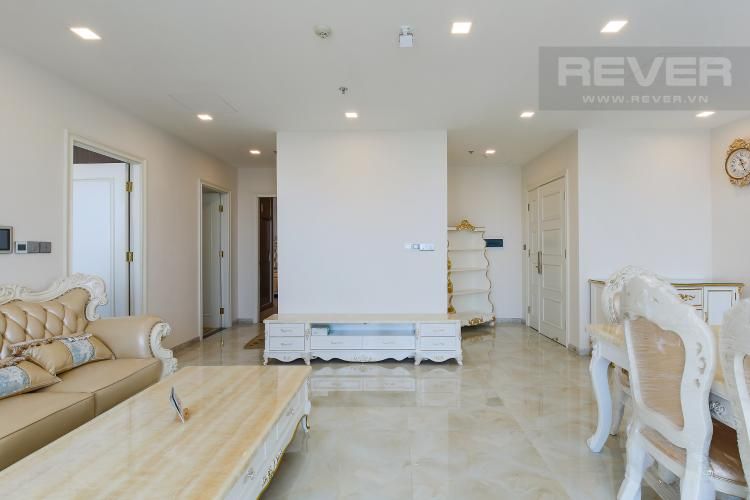 Phòng Khách Căn hộ Vinhomes Golden River 3 phòng ngủ tầng cao Aqua 4 view sông