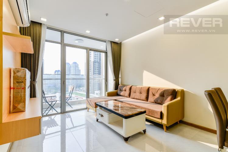 Phòng khách Căn hộ Vinhomes Central Park 2 phòng ngủ tầng trung P7 full nội thất