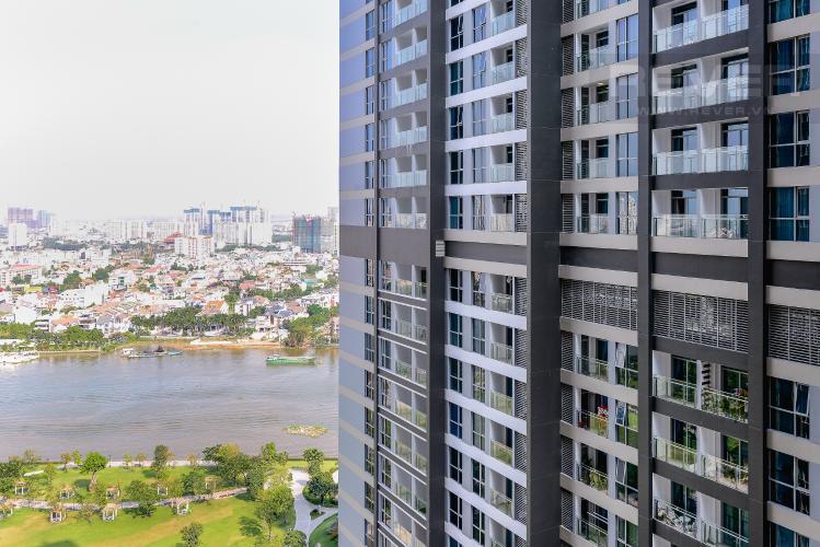 View Căn hộ Vinhomes Central Park 2 phòng ngủ tầng cao P4 nhà trống