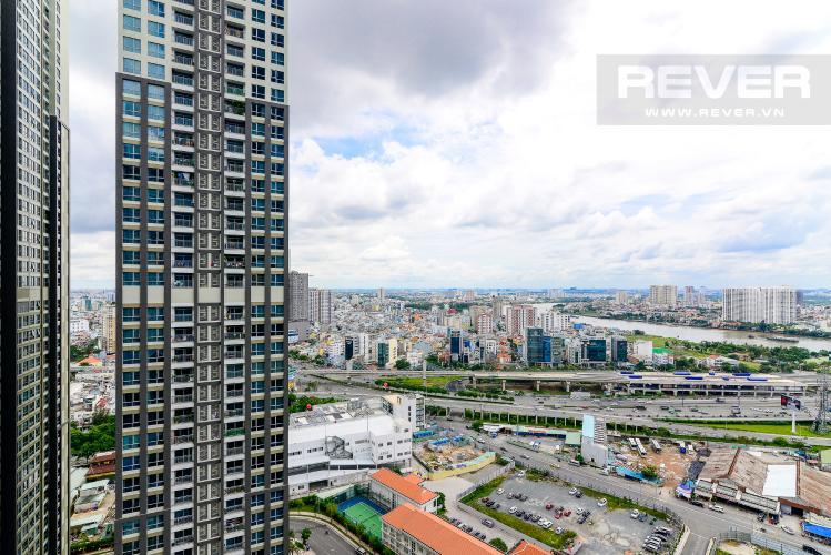View Bán căn hộ Vinhomes Central Park 1PN, tháp Landmark 81, nội thất cơ bản, view Xa lộ Hà Nội