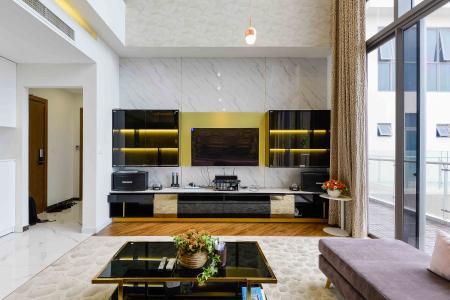 Bán penthouse Masteri Millennium 3PN, diện tích 222m2, đầy đủ nội thất, view sông và Bitexco