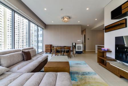Cho thuê căn hộ Diamond Island - Đảo Kim Cương tầng trung, 3PN 3WC, đầy đủ nội thất, view sông và view nội khu