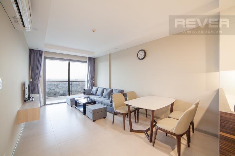 Phòng khách Căn hộ The Gold View 2 phòng ngủ tầng cao A1 nội thất đầy đủ
