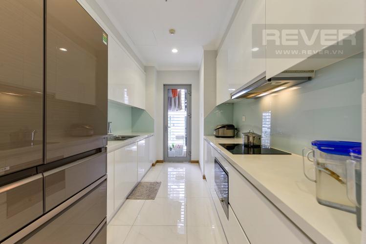 Bếp Căn góc Vinhomes Central Park 3 phòng ngủ tầng cao L1 đầy đủ nội thất
