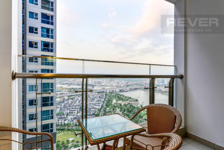 View Balcony Căn hộ Vinhomes Central Park tầng cao 3PN view sông, nội thất hoàn chỉnh