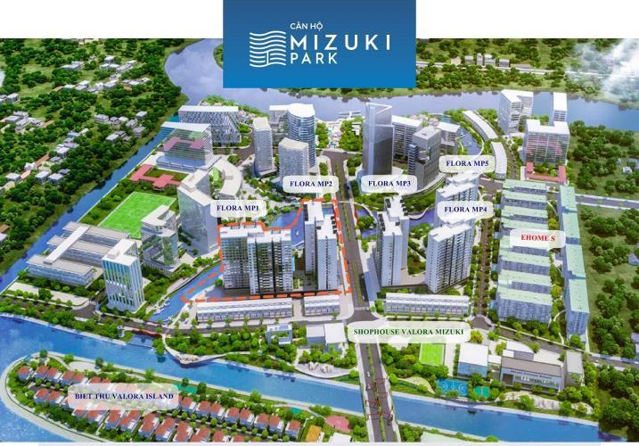 tổng quan dự án căn hộ mizuki park Căn hộ Mizuki Park tầng trung, view cây xanh thoáng mát.