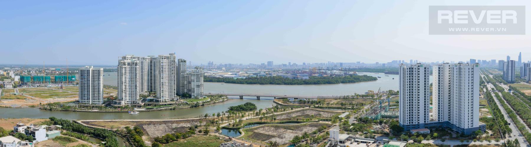 View Cho thuê căn hộ The Sun Avenue 2 phòng ngủ, đầy đủ nội thất, view sông Sài Gòn