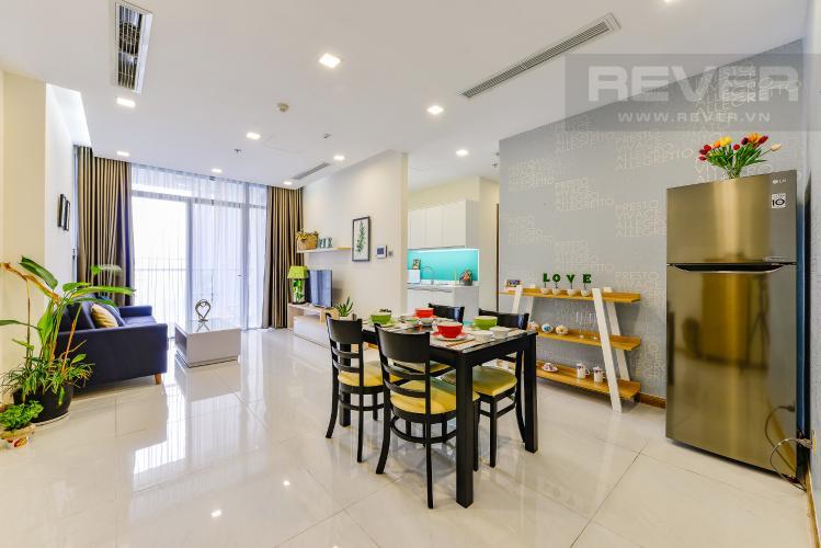 Phòng ăn Cho thuê căn hộ Vinhomes Central Park 2PN đầy đủ nội thất