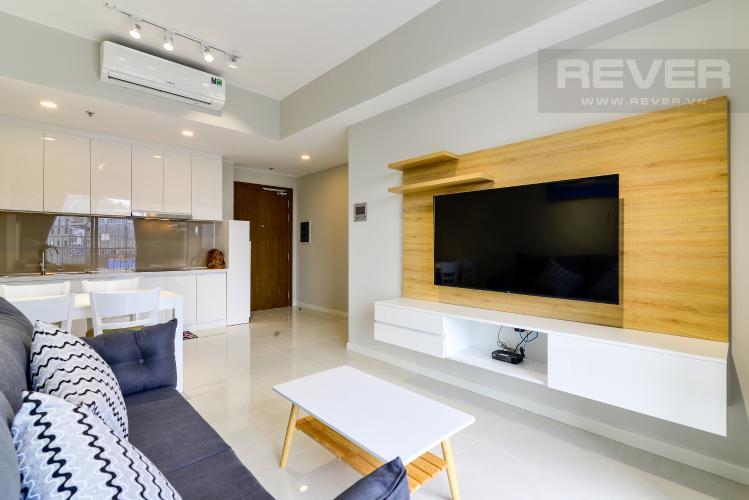Phòng Khách Cho thuê căn hộ Masteri An Phú 2PN, tầng thấp, tháp B, view hồ bơi và Xa lộ Hà Nội