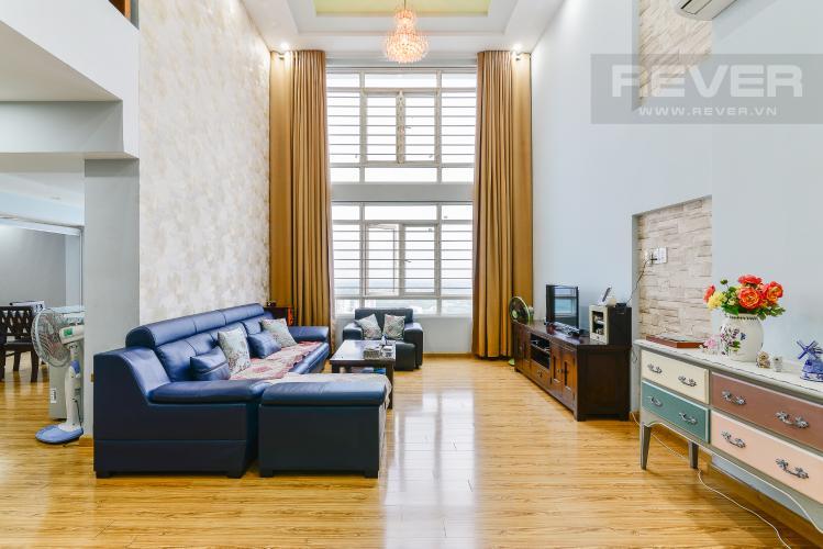 Phòng Khách Căn hộ Phú Hoàng Anh tầng cao 4 phòng ngủ đầy đủ nội thất