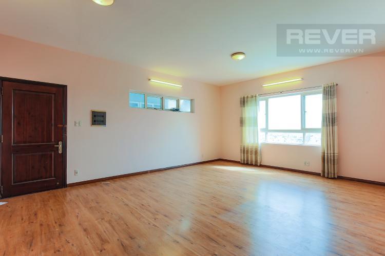 Phòng Khách Căn hộ Copac Square Quận 4 tầng thấp 2 phòng ngủ nội thất cơ bản