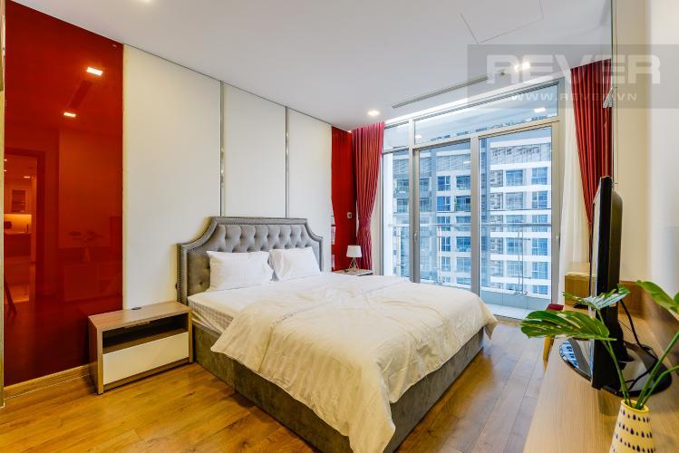 Phòng ngủ 1 Căn hộ Vinhomes Central Park tầng cao, tháp Park 2, 2PN, view sông