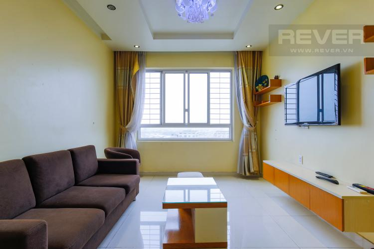 Phòng Khách Căn hộ Tropic Garden tầng cao C1, đầy đủ nội thất, hiện đại, tiện nghi