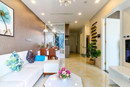 Cho thuê căn hộ Vinhomes Golden River 2PN, diện tích 72m2, đầy đủ nội thất, view sông Sài Gòn và Bitexco