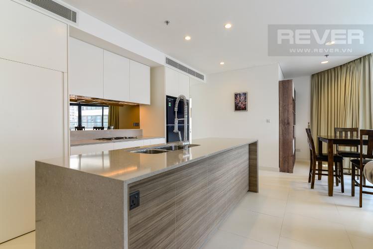Nhà Bếp Cho thuê căn hộ City Garden view thành phố, 104m2 2PN 2WC, nội thất tiện nghi