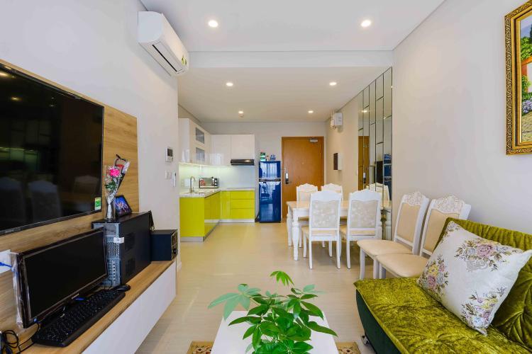 Phòng Khách Cho thuê căn hộ Diamond Island - Đảo Kim Cương 1PN, tầng thấp, tháp Canary, đầy đủ nội thất