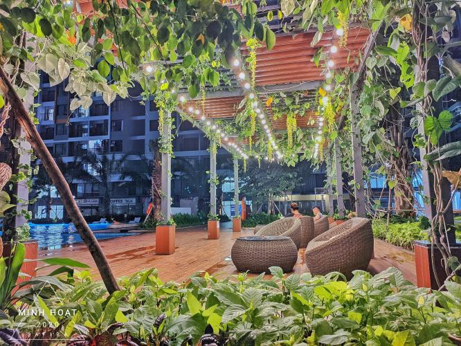view hồ bơi căn hộ Safira khang điền Cho thuê căn hộ tầng cao, đầy đủ nội thất Safira Khang Điền