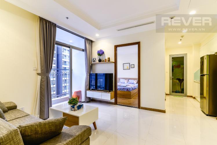 Phòng Khách Căn hộ Vinhomes Central Park tầng cao tòa Landmark 1, 3 phòng ngủ view sông