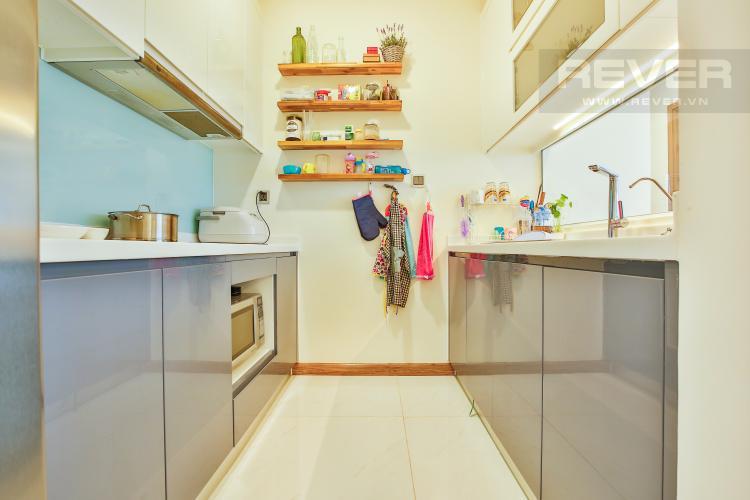 Bếp Căn góc Vinhomes Central Park 3 phòng ngủ tầng cao Park 5 view sông