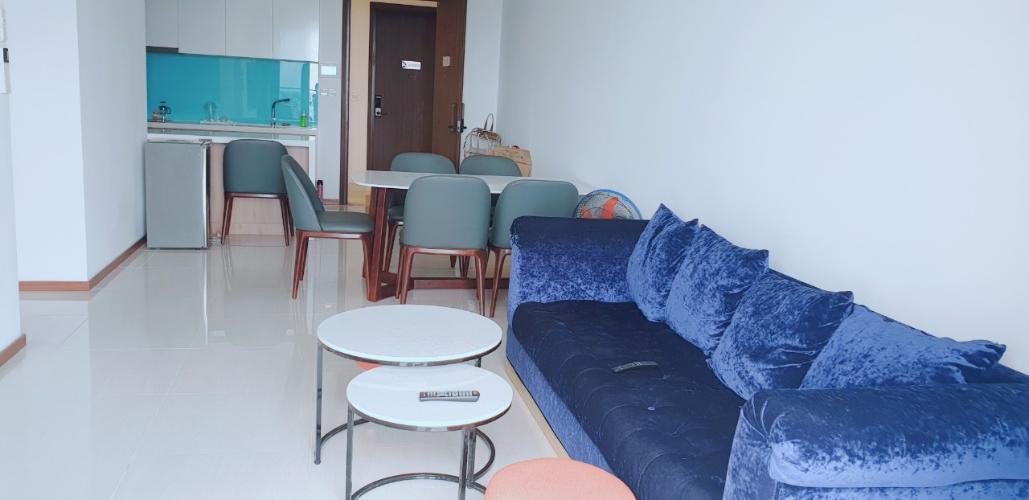 Phòng khách One Verandah Quận 2 Căn hộ One Verandah tầng thấp, view sông thơ mộng.
