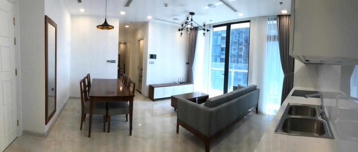 Cho Thuê căn hộ Vinhomes Golden River 2PN, đầy đủ nội thất, view sông và bán đảo Thủ Thiêm