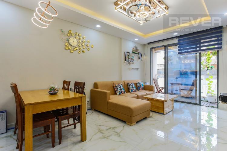 Phòng Khách Căn hộ The Gold View tầng trung tháp A1, 2 phòng ngủ, full nội thất