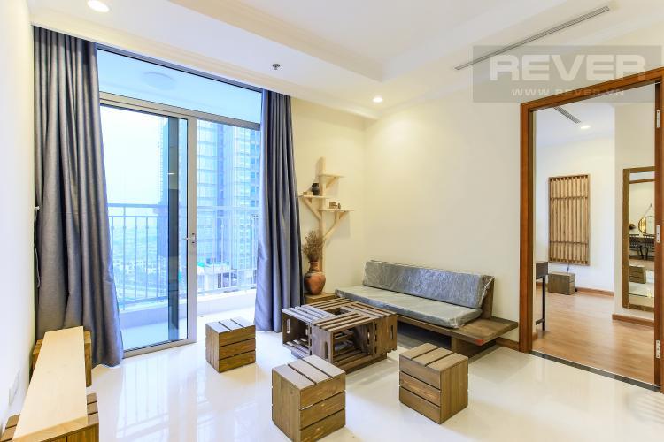 Phòng Khách Căn hộ Vinhomes Central Park 3 phòng ngủ, tầng trung L3, nội thất đầy đủ