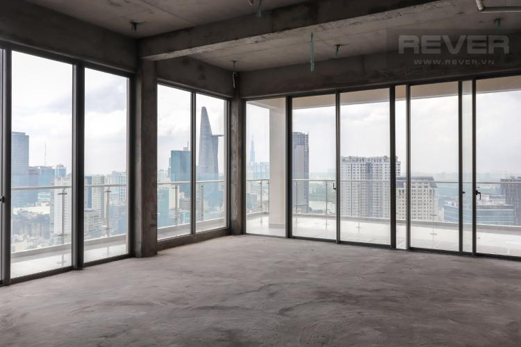Phòng Bán penthouse Masteri Millennium 3PN, block A, không nội thất, thiết kế thông tầng, view panarama thành phố