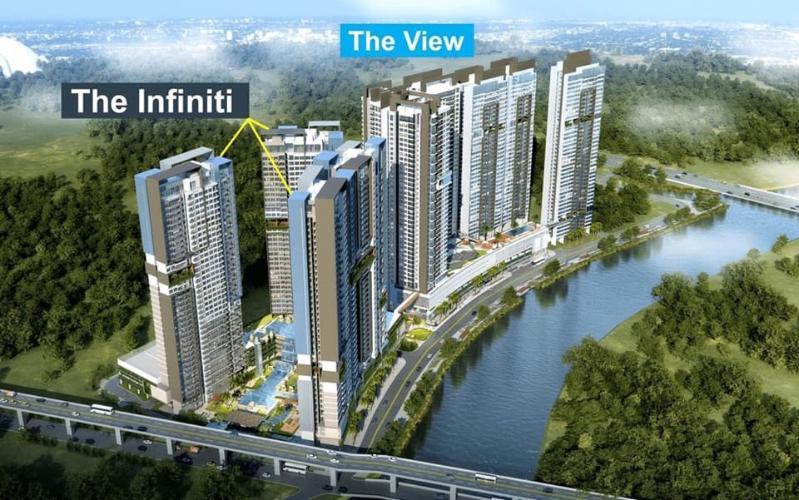 building căn hộ riviera point Căn hộ view thành phố Riviera Point tầng cao, đầy đủ nội thất.