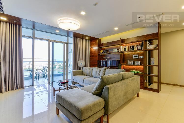 Phòng Khách Căn hộ Vinhomes Central Park 4 phòng ngủ tầng thấp P2 view sông